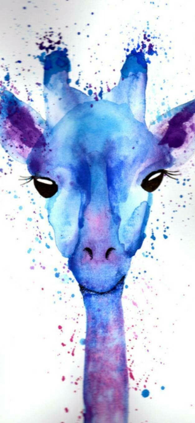 Giraffe Watercolour  - Full Drill Diamond Painting - Specially ordered for you. Delivery is approximately 4 - 6 weeks.