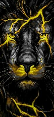 Lion Yellow - Full Drill Diamond Painting - Specially ordered for you. Delivery is approximately 4 - 6 weeks.