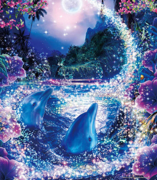 Dolphins 08  - Full Drill Diamond Painting - Specially ordered for you. Delivery is approximately 4 - 6 weeks.