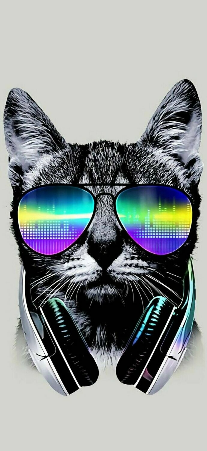 Hipster Cat  - Full Drill Diamond Painting - Specially ordered for you. Delivery is approximately 4 - 6 weeks.