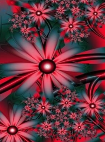 Flowers On Red - Full Drill Diamond Painting - Specially ordered for you. Delivery is approximately 4 - 6 weeks.