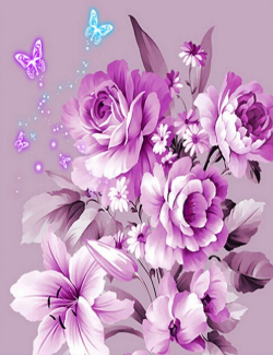 Flowers and Butterflies 01 - Full Drill Diamond Painting - Specially ordered for you. Delivery is approximately 4 - 6 weeks.