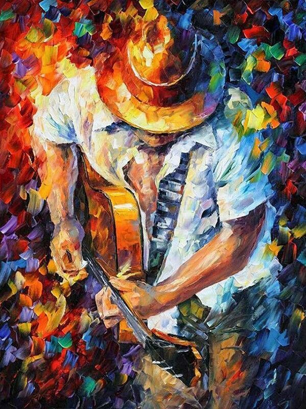 Guitar Man - Full Drill Diamond Painting - Specially ordered for you. Delivery is approximately 4 - 6 weeks.