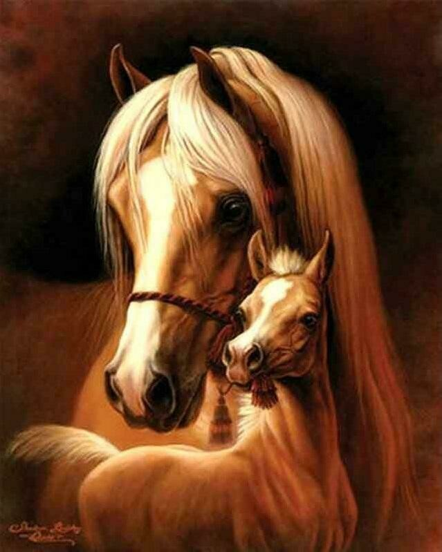 Horse And Foal - Full Drill Diamond Painting - Specially ordered for you. Delivery is approximately 4 - 6 weeks.