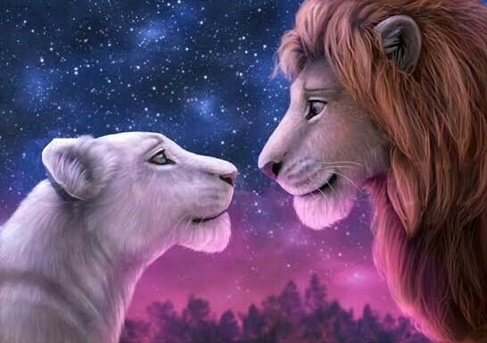 Lions In Love  - Full Drill Diamond Painting - Specially ordered for you. Delivery is approximately 4 - 6 weeks.