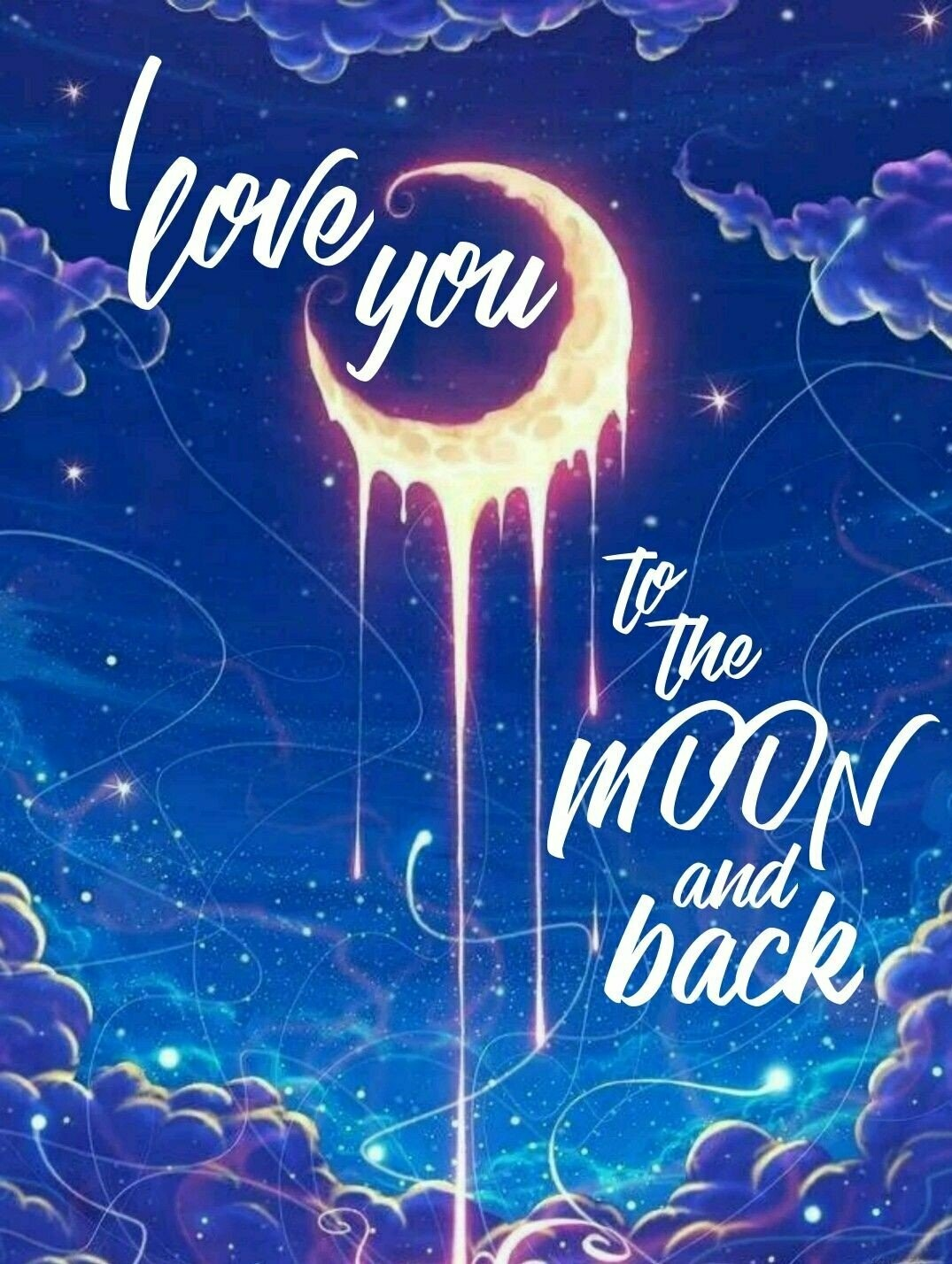 Love You To The Moon 01 - Full Drill Diamond Painting - Specially ordered for you. Delivery is approximately 4 - 6 weeks.