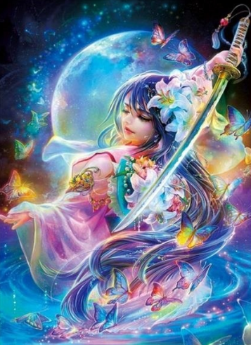 Fairy and Sword - Full Drill Diamond Painting - Specially ordered for you. Delivery is approximately 4 - 6 weeks.