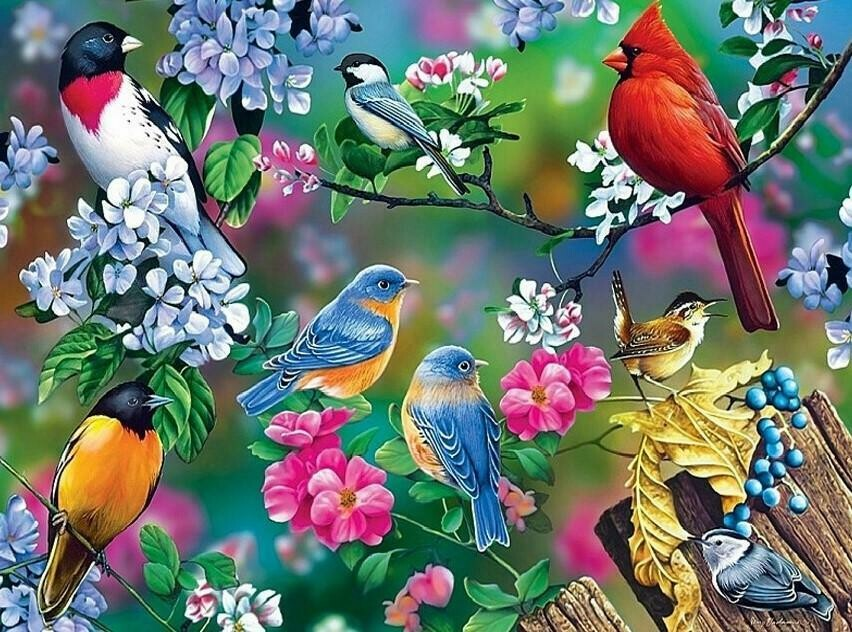 Lots Of Birds - Full Drill Diamond Painting - Specially ordered for you. Delivery is approximately 4 - 6 weeks.