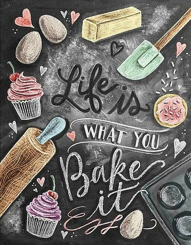 Life is what you bake it  - Full Drill Diamond Painting - Specially ordered for you. Delivery is approximately 4 - 6 weeks.