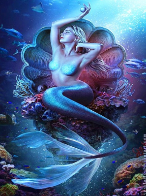 Mermaid Collection 09 - Full Drill Diamond Painting - Specially ordered for you. Delivery is approximately 4 - 6 weeks.