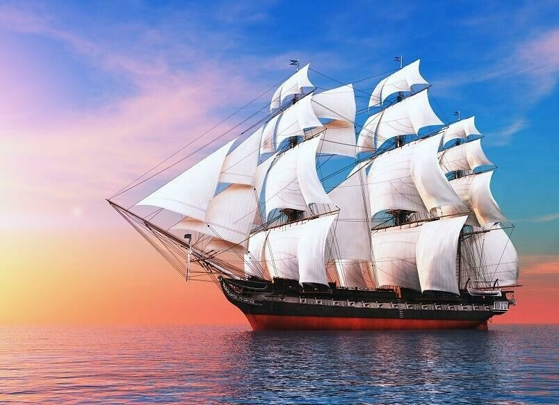 Old Sailing Ship- Full Drill Diamond Painting - Specially ordered for you. Delivery is approximately 4 - 6 weeks.