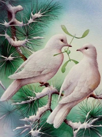 Peaceful Doves - Full Drill Diamond Painting - Specially ordered for you. Delivery is approximately 4 - 6 weeks.