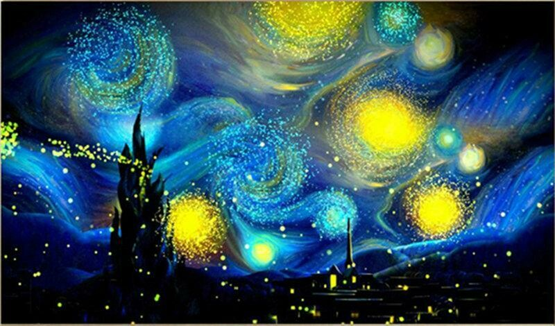 Night Sky - Full Drill Diamond Painting - Specially ordered for you. Delivery is approximately 4 - 6 weeks.