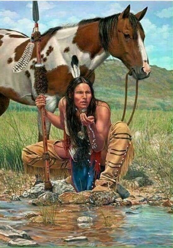 Native American 10 - Full Drill Diamond Painting - Specially ordered for you. Delivery is approximately 4 - 6 weeks.