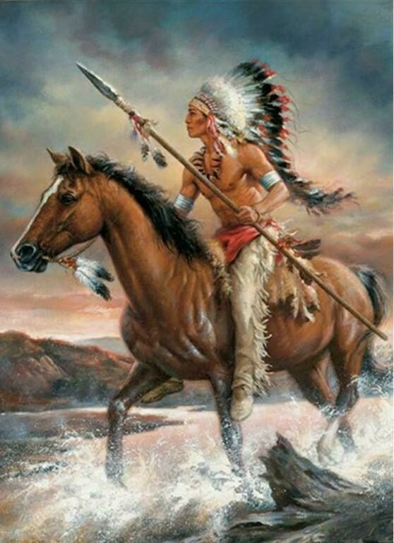 Native American 15 - Full Drill Diamond Painting - Specially ordered for you. Delivery is approximately 4 - 6 weeks.