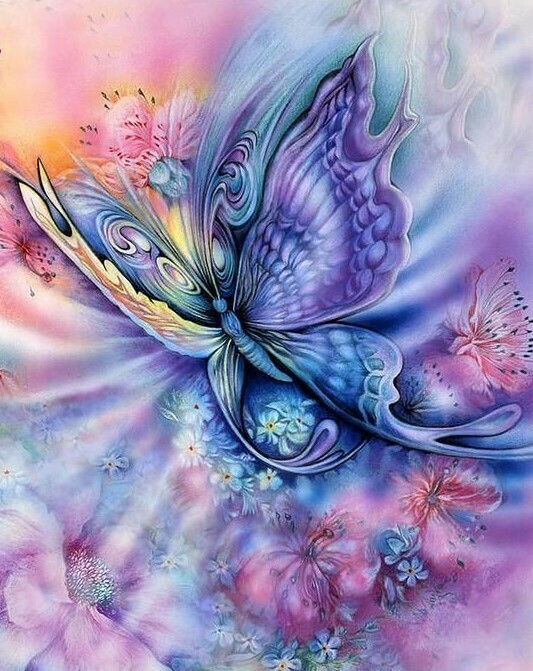 Pastel Butterfly - Full Drill Diamond Painting - Specially ordered for you. Delivery is approximately 4 - 6 weeks.