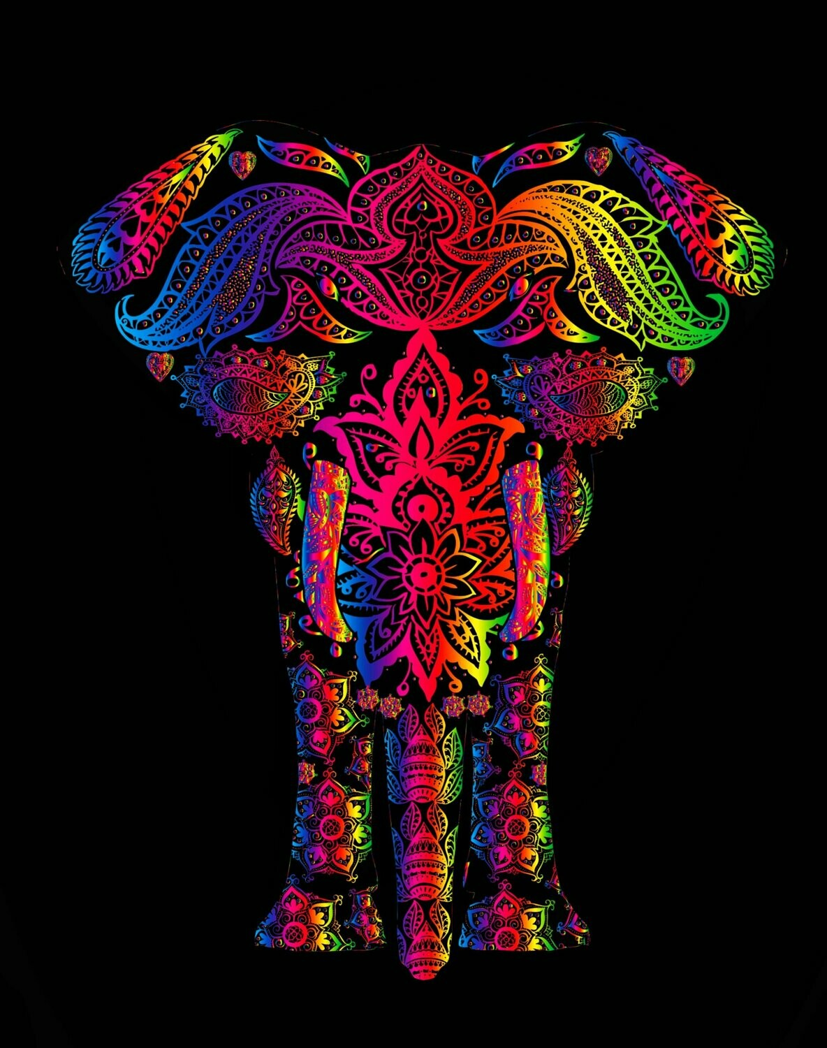 Pattern Elephant - Full Drill Diamond Painting - Specially ordered for you. Delivery is approximately 4 - 6 weeks.