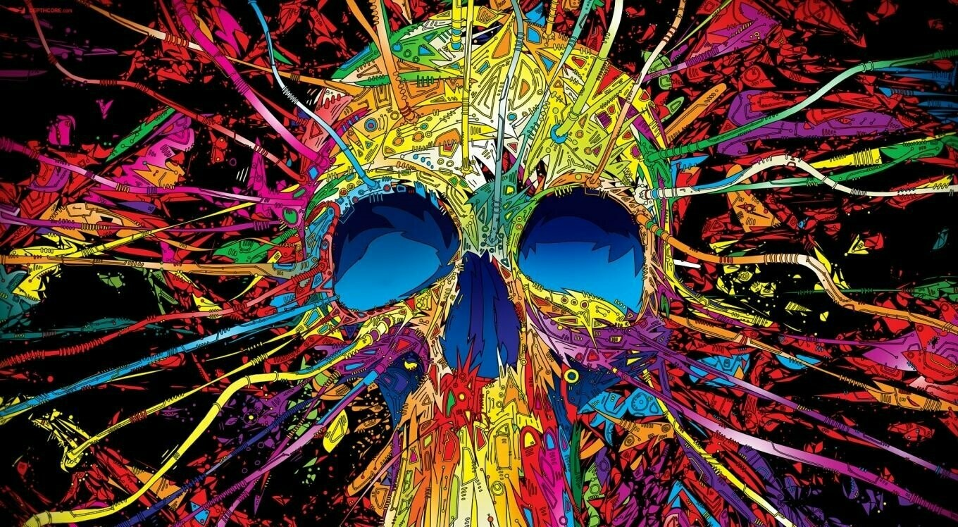 Out There Skull - Full Drill Diamond Painting - Specially ordered for you. Delivery is approximately 4 - 6 weeks.