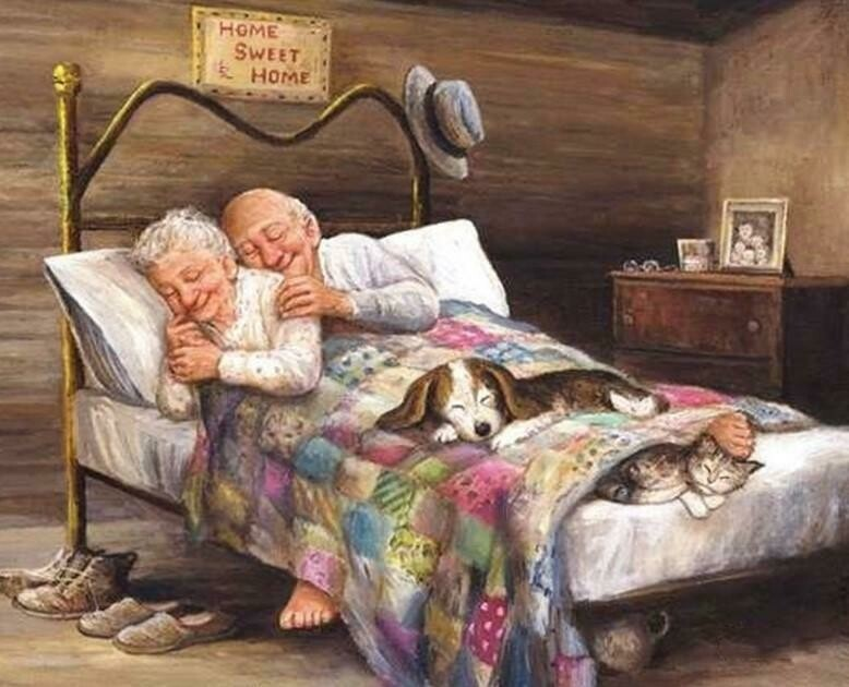 Old Couple 01- Full Drill Diamond Painting - Specially ordered for you. Delivery is approximately 4 - 6 weeks.