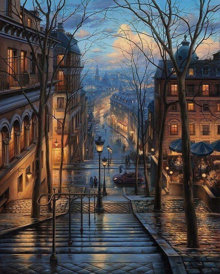 Montmartre, Paris - Full Drill Diamond Painting - Specially ordered for you. Delivery is approximately 4 - 6 weeks.