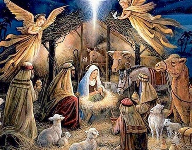 Nativity Scene 02 - Full Drill Diamond Painting - Specially ordered for you. Delivery is approximately 4 - 6 weeks.