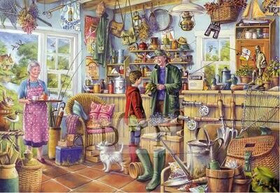 Fishing Store - Full Drill Diamond Painting - Specially ordered for you. Delivery is approximately 4 - 6 weeks.