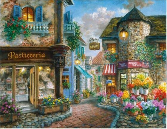 Flower Village - Full Drill Diamond Painting - Specially ordered for you. Delivery is approximately 4 - 6 weeks.