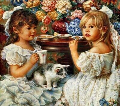 Girls Party - Full Drill Diamond Painting - Specially ordered for you. Delivery is approximately 4 - 6 weeks.