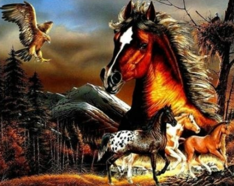 Horses A - Full Drill Diamond Painting - Specially ordered for you. Delivery is approximately 4 - 6 weeks.