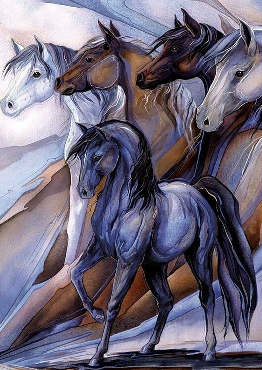 Horses In Grey And Brown - Full Drill Diamond Painting - Specially ordered for you. Delivery is approximately 4 - 6 weeks.