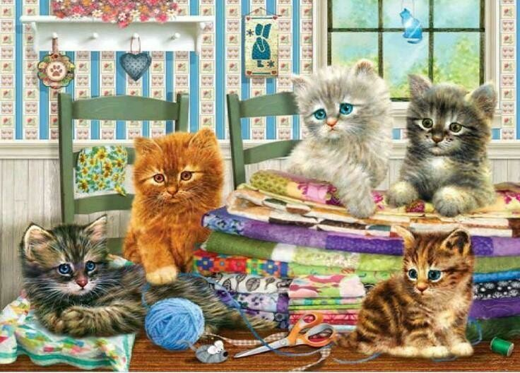 Kittens  - Full Drill Diamond Painting - Specially ordered for you. Delivery is approximately 4 - 6 weeks.