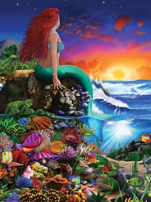 Mermaid Collection 10 - Full Drill Diamond Painting - Specially ordered for you. Delivery is approximately 4 - 6 weeks.