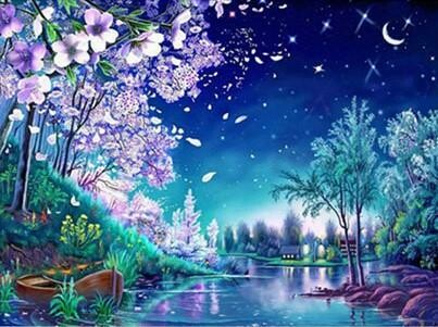 Night Scene - Full Drill Diamond Painting - Specially ordered for you. Delivery is approximately 4 - 6 weeks.