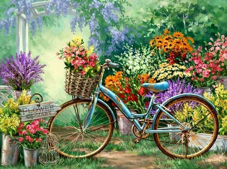 Old Bicycle - Full Drill Diamond Painting - Specially ordered for you. Delivery is approximately 4 - 6 weeks.