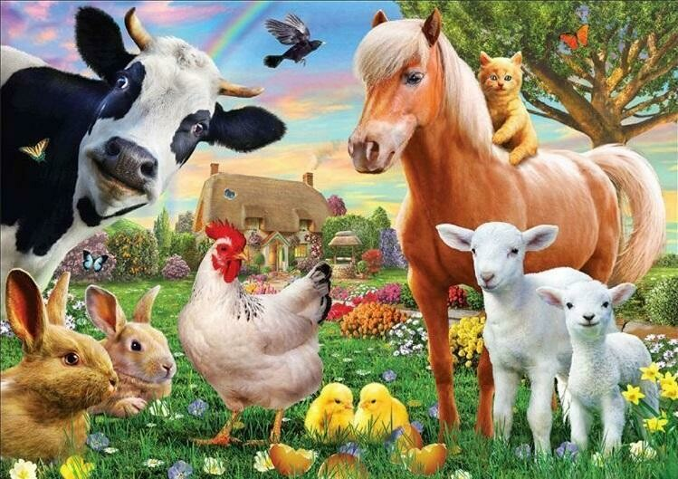 Farm Yard Animals- Full Drill Diamond Painting - Specially ordered for you. Delivery is approximately 4 - 6 weeks.