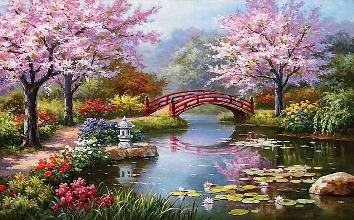 Japanese Garden 2 - Full Drill Diamond Painting - Specially ordered for you. Delivery is approximately 4 - 6 weeks.