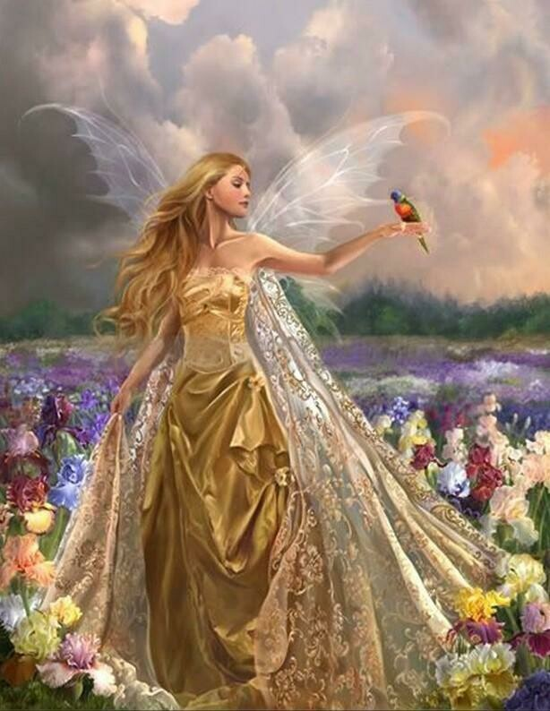 Fairy With Bird - Full Drill Diamond Painting - Specially ordered for you. Delivery is approximately 4 - 6 weeks.
