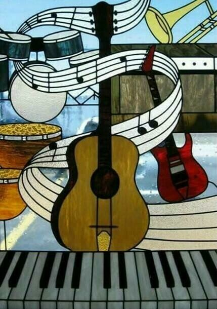 Musical Instruments - Full Drill Diamond Painting - Specially ordered for you. Delivery is approximately 4 - 6 weeks.