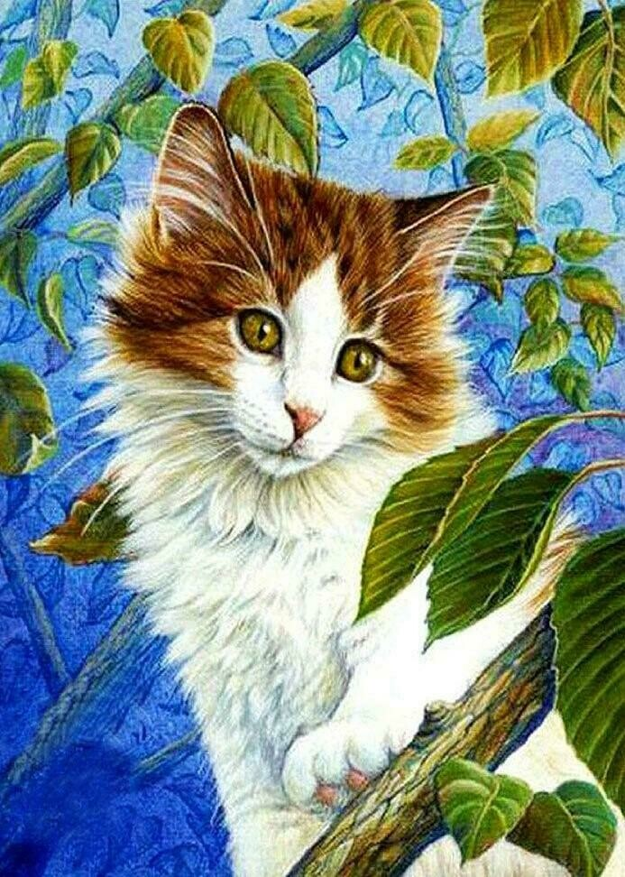 Fluffy Kitten - Full Drill Diamond Painting - Specially ordered for you. Delivery is approximately 4 - 6 weeks.