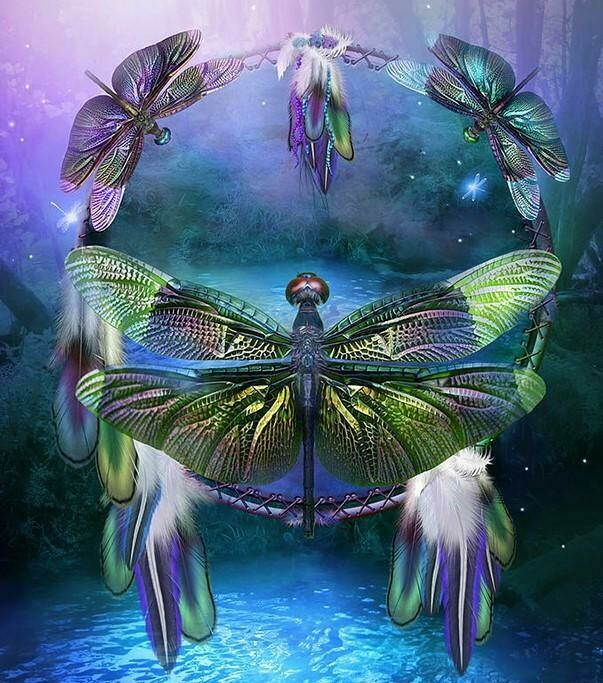 Dragonfly Dreamcatcher - Full Drill Diamond Painting - Specially ordered for you. Delivery is approximately 4 - 6 weeks.
