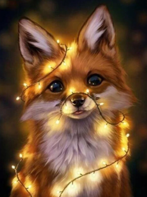 Fox with Lights - Full Drill Diamond Painting - Specially ordered for you. Delivery is approximately 4 - 6 weeks.