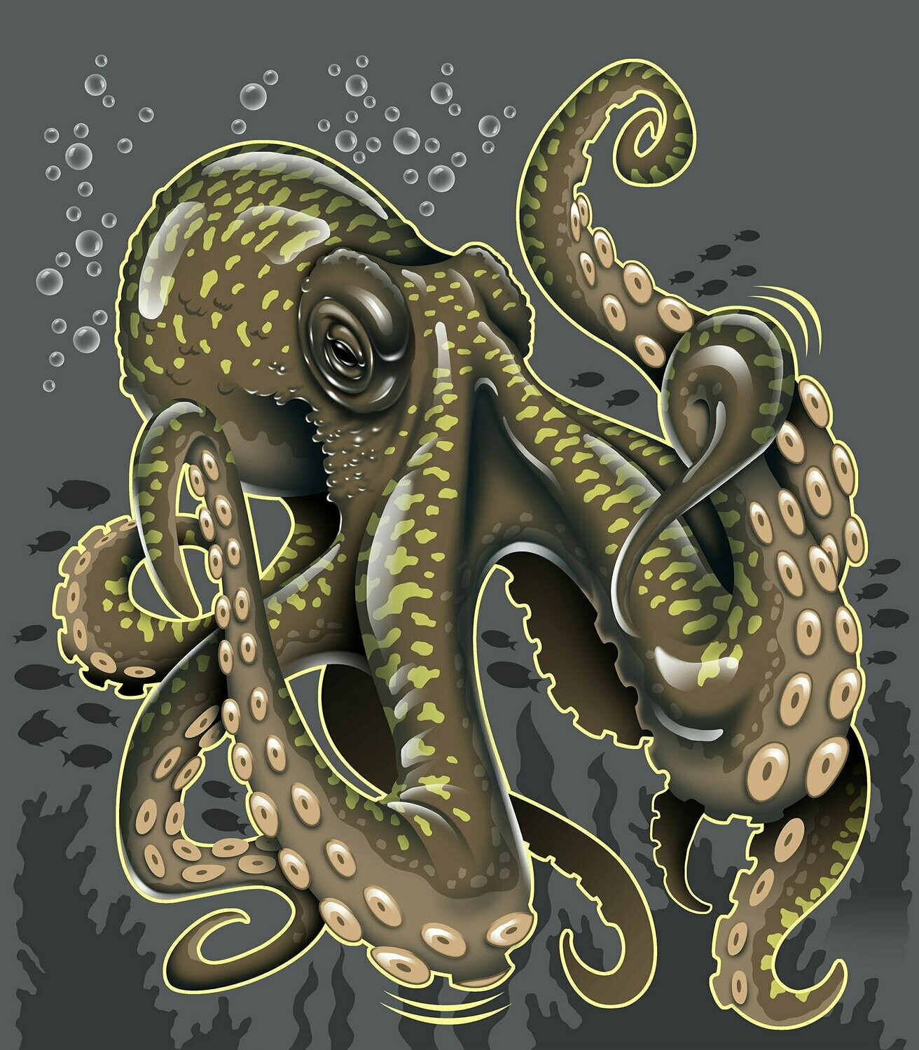 Octopus - Full Drill Diamond Painting - Specially ordered for you. Delivery is approximately 4 - 6 weeks.