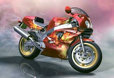 Motorcycle 02 - Full Drill Diamond Painting - Specially ordered for you. Delivery is approximately 4 - 6 weeks.