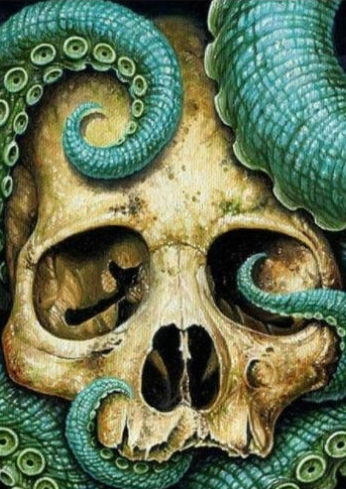 Octopus and Skull - Full Drill Diamond Painting - Specially ordered for you. Delivery is approximately 4 - 6 weeks.