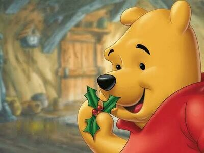 Mistletoe Bear - Full Drill Diamond Painting - Specially ordered for you. Delivery is approximately 4 - 6 weeks.