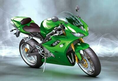 Motorcycle 01 - Full Drill Diamond Painting - Specially ordered for you. Delivery is approximately 4 - 6 weeks.