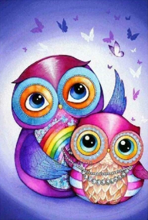 Owls - Full Drill Diamond Painting - Specially ordered for you. Delivery is approximately 4 - 6 weeks.