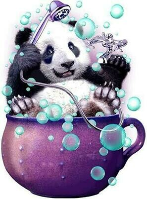 Panda In A Cup - Full Drill Diamond Painting - Specially ordered for you. Delivery is approximately 4 - 6 weeks.