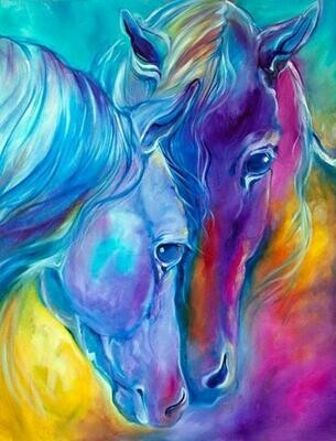 Pretty Horses - Full Drill Diamond Painting - Specially ordered for you. Delivery is approximately 4 - 6 weeks.