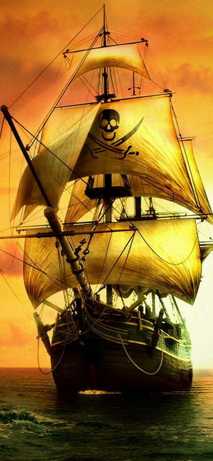 Pirate Ship 01 - Full Drill Diamond Painting - Specially ordered for you. Delivery is approximately 4 - 6 weeks.